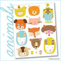 animals by Carolyn Gavin