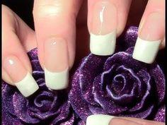 French Manicure leicht gemacht ;) / Saubere Smileline Tutorial / French Nägel selber machen - YouTube