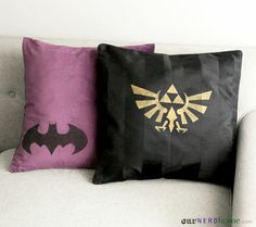 DIY geek home decor: We made some geek pillows!