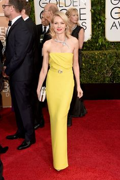 Sarı Alarmı  Golden Globes 2015 Red Carpet: Naomi Watts in Gucci