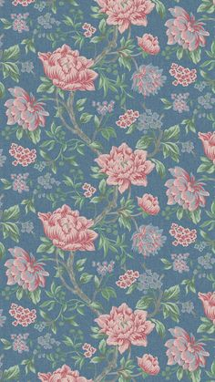 NEW: Introducing Tapestry Floral. Bold and beautiful with archival roots, this new Laura Ashley print represents a traditional hand-woven floral tapestry. Modernised and reworked to suit a timeless and elegant home, this rustic design is given a contemporary twist with a stylish colour palette of rich blues and soft pinks. Featuring across wallpaper, bedlinen, curtains and cushions, search 'Tapestry Floral' online to shop the look.