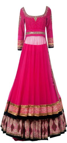 USD 244.44 Pink Manish Malhotra Designer Lehenga Choli 27981