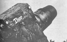 """Karl-Gerät"" (German literally ""Karl-device""), also known as Thor and Mörser Karl, was a World War II German self-propelled siege mortar (Mörser) designed and built by Rheinmetall. German Soldiers Ww2, German Army, World History, World War Ii, Self Propelled Artillery, Tank Armor, Ww2 Photos, War Photography, Big Guns"