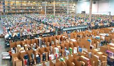 Centro logístico da Amazon em Madri, na Espanha: loja aumentou no Brasil a oferta de títulos de livros impressos em língua estrangeira, principalmente em inglês, espanhol, francês e italiano. | Álvaro Ibáñez/Creative Commons
