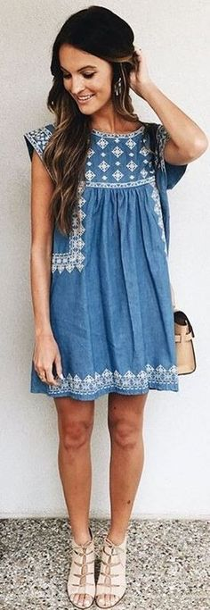 Little Denim Dress                                                                             Source