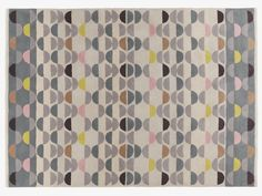 ODEON NEUTRAL Wool Large multi-coloured wool rug 170 x 240cm - HabitatUK The Odeon large multi-coloured wool rug has a geometric, semi-circle pattern in a subtle palette of soft colours and tonal shades.