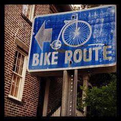 Bike route in Savannah