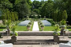 wedding in the gardens of Graydon Hall