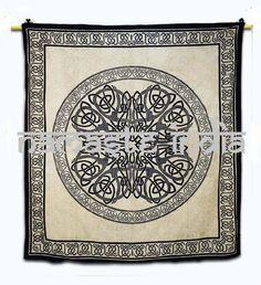 Celtic Mandala Twin Double King Bed Sheet Cover by NamaskarIndia