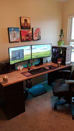 11 best gaming desk build images bedrooms gaming desk build rh pinterest com