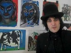 Noel Fielding candidly showing some of his art and studio. (Camera work is a bit shoddy and it just cuts off and never continues but still a good video.)
