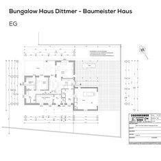 Berger Massivhaus grundriss bungalow haus mit garage und pultdach 3 zimmer 90 qm