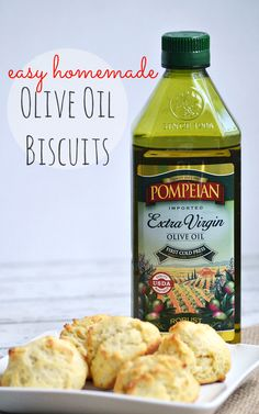 Easy Homemade Olive Oil Biscuits (no butter or eggs!) - Recipe at www.MommyMusings.com #pantryinsiders