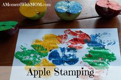 Apple Stamplng Craft to keep your children busy this fall #amomentwithmom
