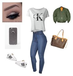 Geen titel #11 by isabeau-thijs on Polyvore featuring polyvore, fashion, style, Calvin Klein Jeans, adidas, Louis Vuitton, LA: Hearts, women's clothing, women's fashion, women, female, woman, misses and juniors