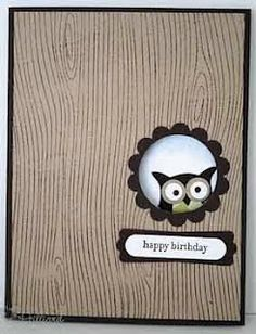 Stampin Up Owl punch, scallop punch, word window punch, modern label punch. FOR JULIE. Hand Made Greeting Cards, Making Greeting Cards, Handmade Birthday Cards, Happy Birthday Cards, Owl Punch Cards, Stampin Up Karten, Owl Card, Paper Cards, Men's Cards
