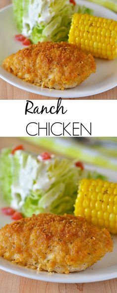 Crispy on the outside, moist on the inside, flavorful Ranch chicken. This is a family-favorite! I make this chicken at least 3x a month! We all love it!!