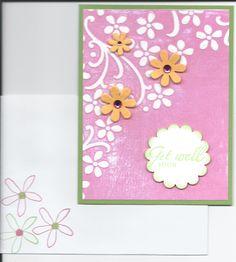 Inked embossing folder with envelope.