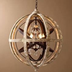 Retro Rustic Weathered Wooden Globe ...