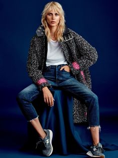 aymeline valade by rasmus skousen for cover november 2015 [ Jeans, For the People. CV ]