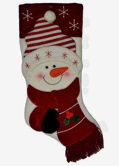 Check out this awesome post: Botas de navidad ideas Christmas Items, Christmas Love, Christmas Pictures, Christmas Projects, Quilted Christmas Stockings, Xmas Stockings, Snowman Christmas Decorations, Christmas Snowman, Snowman Quilt