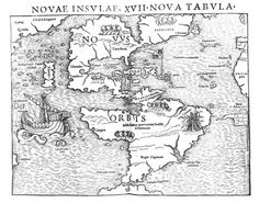 First printed map of the New world (1540) by Sebastian Münster
