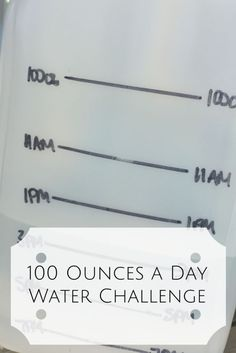 100 Ounces a Day Water Challenge - Changing Out Bad Habits For Good Ones. Reduce bloating and increase your energy are the two biggest changes that we noticed with this lifestyle change.