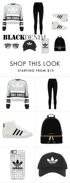 """travel again why not ?"" by nisazulaika ❤ liked on Polyvore featuring adidas Originals, Balmain, adidas, MICHAEL Michael Kors, Casetify, Topshop and Ray-Ban"