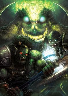 Grom Hellscream and Thrall by ~HeeWonLee on deviantART - World of Warcraft World Of Warcraft, Warcraft Orc, Grom Hellscream, Grommash Hellscream, Fantasy World, Fantasy Art, Blizzard Warcraft, Samurai, Medieval