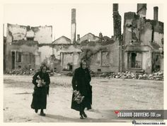 Oradour-su-Glane: Pictures taken by the press at the time