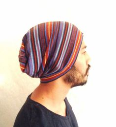 Slouch Mens Beanie Hat Men Clothes summer Vintage by MissTopKnot, $24.00
