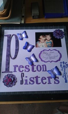 Sister Scrapbook page