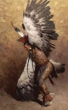 Eagle Dancer Potawatomi By Z.S.  Liangstory tells about the formation on the stars constellations, eagle.