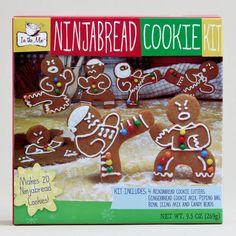 One of my favorite discoveries at WorldMarket.com: Gingerbread Ninja Cookie Kit, Set of 2