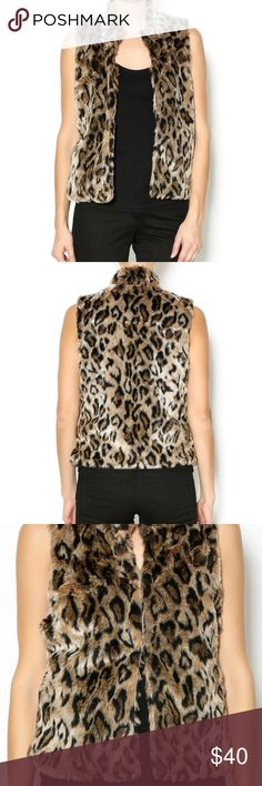 LEOPARD FAUX FUR VEST WITH POCKETS BRAND NEW Leopard print faux fur vest with side pockets and hook & eye closure. ❌trades ❌ PayPal ❌ holds 👗Measurements upon request  👍 offers*** Please use the offer button ☝🏼 keep in mind PM Takes 20% commission 📦 fast shipper 🛍 I wrap all my orders with delight💕 ci sono Jackets & Coats Vests