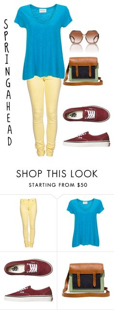 """spring ahead"" by lizzieannestedman ❤ liked on Polyvore featuring Second, American Vintage, Vans, Madewell and Tory Burch"