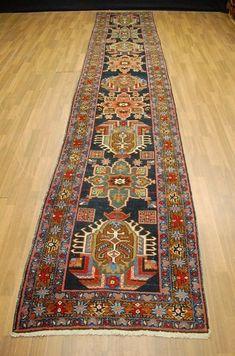 Heriz, Iran, 455 x 88 cm Hallway Carpet Runners, Carpet Stairs, Ancient Scripts, Navajo Rugs, Rugs On Carpet, Living Room Carpet, Tribal Rug, Persian Carpet, Painting Art