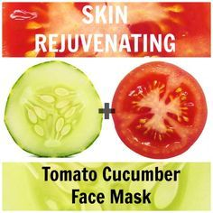 It doesn't get any more refreshing than this! Use tomato   cucumber for refreshed, rejuvenated and youthful skin.