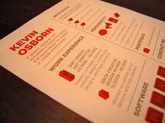 Resume 2012 on Behance
