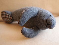Manatee, make with thrift store suits