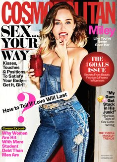 Miley Cyrus by Ellen Von Unwerth for Cosmopolitan US September 2017 Cover