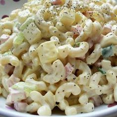 Easy Macaroni Salad with Ham
