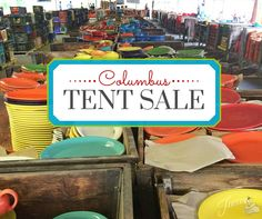Fiesta Dinnerware Tent Sale in Columbus, Sept. 17-20. Click for details! Low prices!