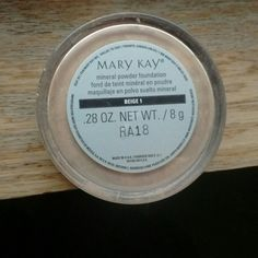USED ONCE MARYKAY MINERAL FOUNDATION BEIGE My mom used this once and gave it to me but its too dark for me! Makeup Foundation