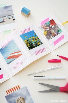 Ein faltbares Foto-Heftchen: schnell und einfach gemacht, superschönes Mitbringsel für die Reisebegleiter!