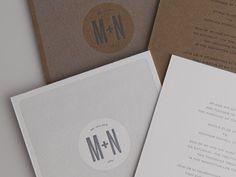 Letter-pressed invites