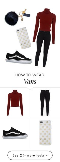 """Start of testweek #11"" by xrobinnnn on Polyvore featuring Vans, Ted Baker, A.L.C., Kate Spade and Mark & Graham"