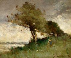 Contemporary Landscape, Landscape Art, Landscape Paintings, Barbizon School, French Art, Landscaping, Author, Painting Pictures, French Artwork