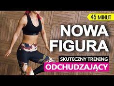 NOWA FIGURA - INTERWAŁOWY TRENING ODCHUDZAJĄCY - YouTube Zumba, At Home Workouts, Cardio, Bodybuilding, Health Fitness, Youtube, Weight Loss, Yoga, Sports