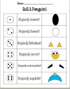 Játékos tanulás és kreativitás: Dobj, színezz egy pingvint!